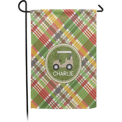 Golfer's Plaid Garden Flag - Single or Double Sided (Personalized)