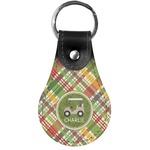 Golfer's Plaid Genuine Leather  Keychains (Personalized)