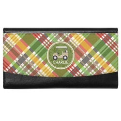 Golfer's Plaid Genuine Leather Ladies Wallet (Personalized)