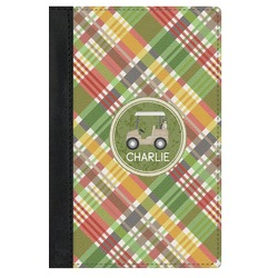 Golfer's Plaid Genuine Leather Passport Cover (Personalized)