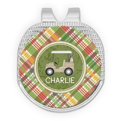 Golfer's Plaid Golf Ball Marker - Hat Clip