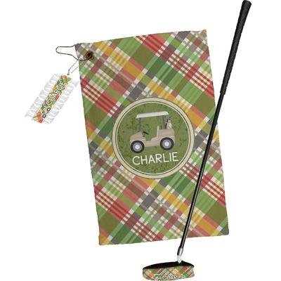 Golfer's Plaid Golf Towel Gift Set (Personalized)
