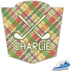 Golfer's Plaid Graphic Iron On Transfer (Personalized)
