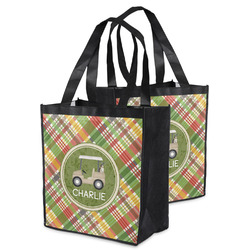 Golfer's Plaid Grocery Bag (Personalized)