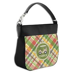 Golfer's Plaid Hobo Purse w/ Genuine Leather Trim (Personalized)