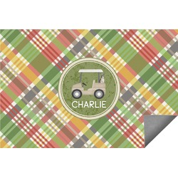 Golfer's Plaid Indoor / Outdoor Rug - 6'x9' (Personalized)