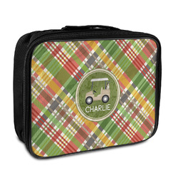 Golfer's Plaid Insulated Lunch Bag (Personalized)