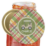 Golfer's Plaid Jar Opener (Personalized)