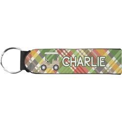 Golfer's Plaid Neoprene Keychain Fob (Personalized)