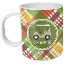 Golfer's Plaid Plastic Kids Mug (Personalized)