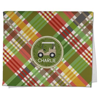 Golfer's Plaid Kitchen Towel - Full Print (Personalized)