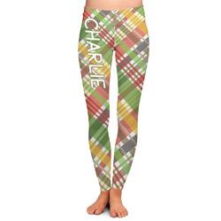 Golfer's Plaid Ladies Leggings (Personalized)