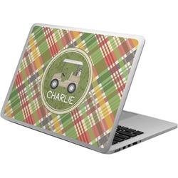Golfer's Plaid Laptop Skin - Custom Sized (Personalized)