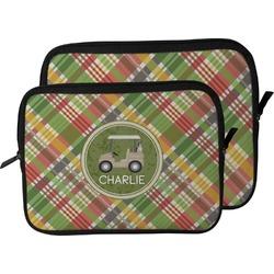 Golfer's Plaid Laptop Sleeve / Case (Personalized)