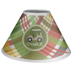 Golfer's Plaid Coolie Lamp Shade (Personalized)