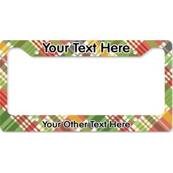 Golfer's Plaid License Plate Frame (Personalized)