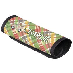 Golfer's Plaid Luggage Handle Cover (Personalized)