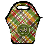 Golfer's Plaid Lunch Bag w/ Name or Text