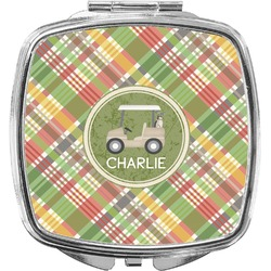 Golfer's Plaid Compact Makeup Mirror (Personalized)