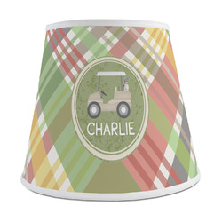 Golfer's Plaid Empire Lamp Shade (Personalized)