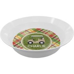Golfer's Plaid Melamine Bowls (Personalized)