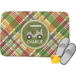 Golfer's Plaid Memory Foam Bath Mat (Personalized)