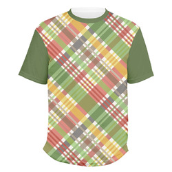 Golfer's Plaid Men's Crew T-Shirt (Personalized)