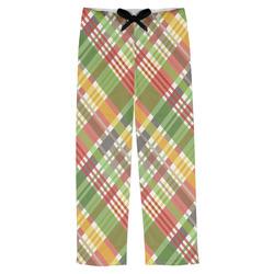 Golfer's Plaid Mens Pajama Pants (Personalized)