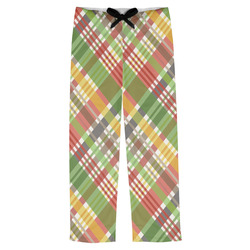 Golfer's Plaid Mens Pajama Pants (Personalized)