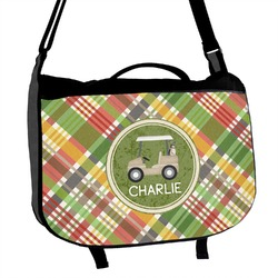 Golfer's Plaid Messenger Bag (Personalized)