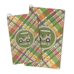 Golfer's Plaid Microfiber Golf Towel (Personalized)