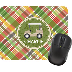 Golfer's Plaid Mouse Pad (Personalized)