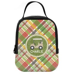 Golfer's Plaid Neoprene Lunch Tote (Personalized)