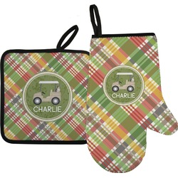 Golfer's Plaid Oven Mitt & Pot Holder (Personalized)