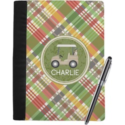 Golfer's Plaid Notebook Padfolio (Personalized)
