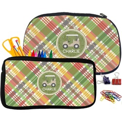 Golfer's Plaid Pencil / School Supplies Bag (Personalized)