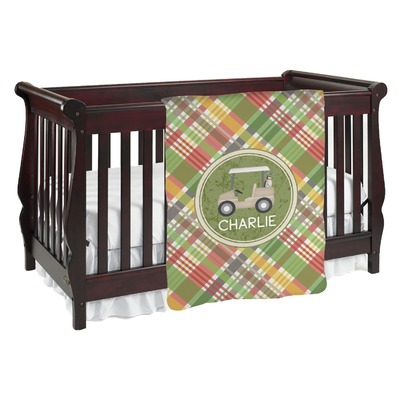 Golfer's Plaid Baby Blanket (Personalized)