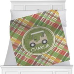 Golfer's Plaid Minky Blanket (Personalized)