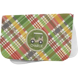 Golfer's Plaid Burp Cloth (Personalized)