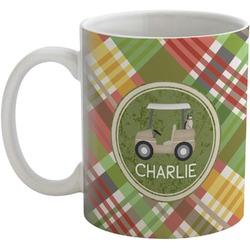 Golfer's Plaid Coffee Mug (Personalized)