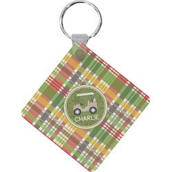 Golfer's Plaid Diamond Key Chain (Personalized)