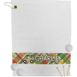 Golfer's Plaid Golf Towel (Personalized)