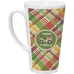 Golfer's Plaid Latte Mug (Personalized)