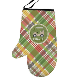 Golfer's Plaid Left Oven Mitt (Personalized)