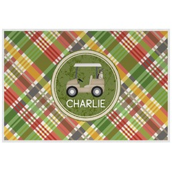 Golfer's Plaid Placemat (Laminated) (Personalized)