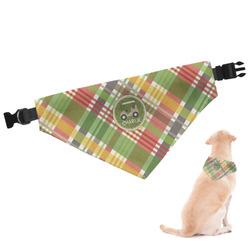 Golfer's Plaid Dog Bandana (Personalized)