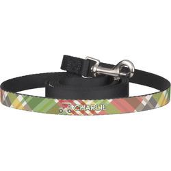 Golfer's Plaid Pet / Dog Leash (Personalized)