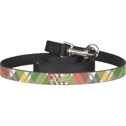 Golfer's Plaid Pet / Dog Leash (Personalized)