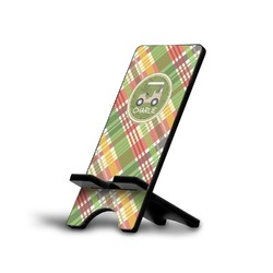 Golfer's Plaid Phone Stand (Personalized)