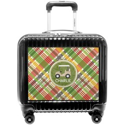 Golfer's Plaid Pilot / Flight Suitcase (Personalized)